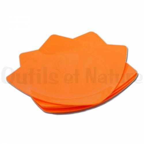 Assiettes en plastique carré - 24 cm (lot de 4)